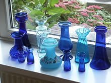 Blue hyacinth vases